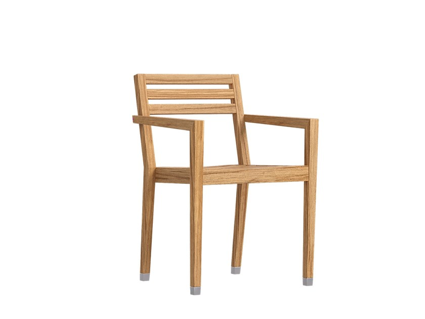 Stackable garden chair with armrests DESERT   Stackable chair by Atmosphera