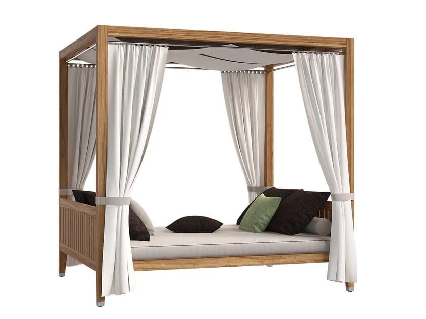 Double canopy teak garden bed DESERT | Garden bed by Atmosphera