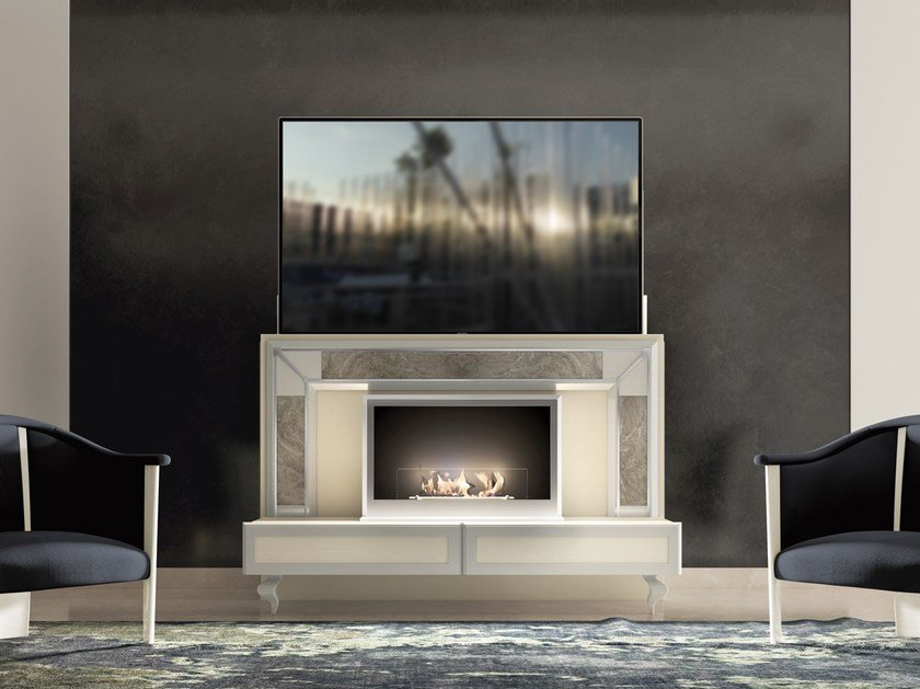 Lackiertes motorisierte TV-Möbel DESIRE LIFT By Vismara Design
