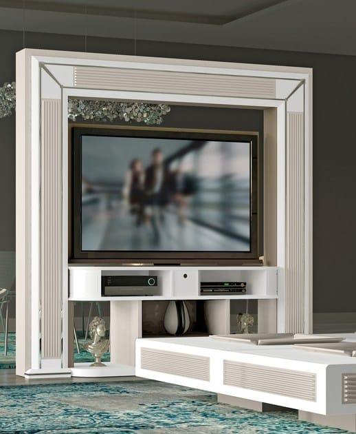 Meuble tv double face pivotant avec passe c bles desire revolving by vismara design - Meuble double face ...
