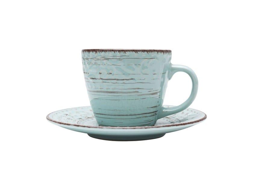 Porcelain stoneware tea cup DESIRE TURQUESE | Tea cup by KARE-DESIGN