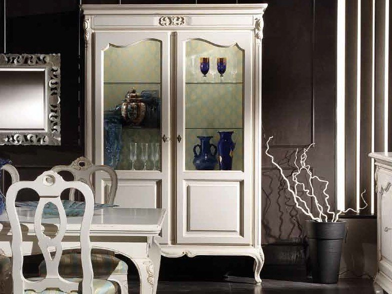 Lacquered solid wood display cabinet DESIREE | Display cabinet by Arvestyle