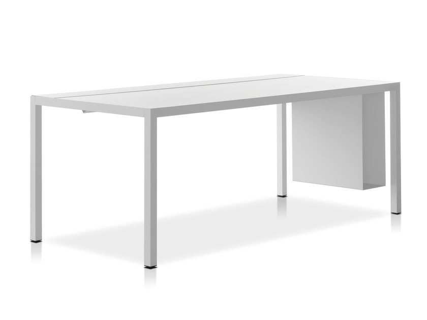Rectangular powder coated aluminium workstation desk DESK 3.0 by MDF Italia