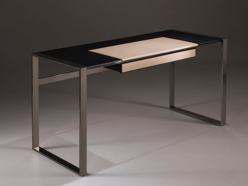 Rectangular oak office desk with drawers DESK | Oak writing desk by F.lli Orsenigo