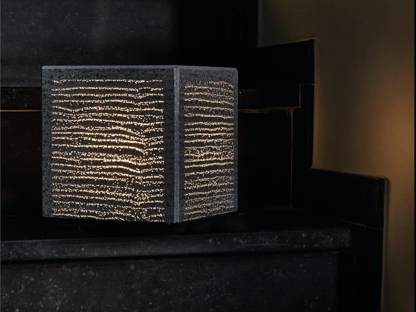 Concrete desk lamp DESK by LUCEM