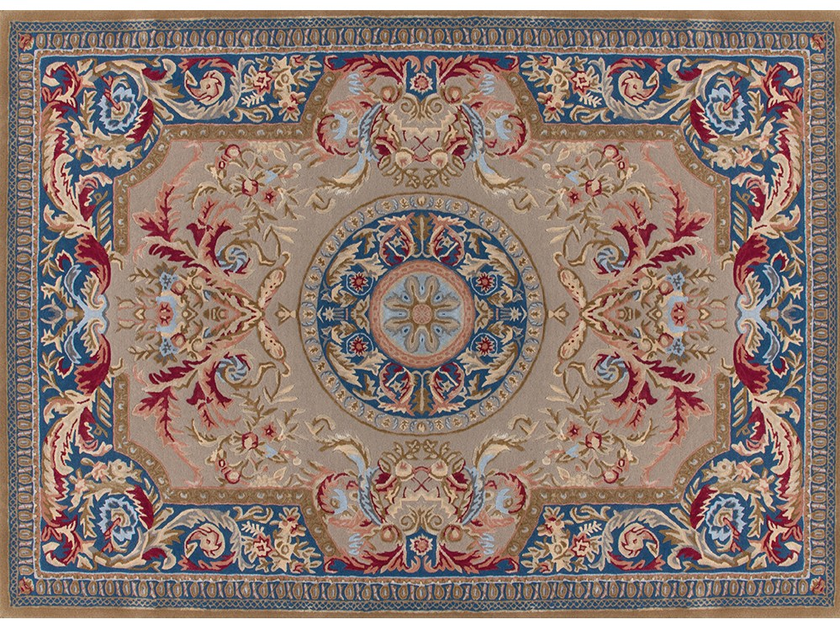 Patterned rectangular wool rug DESMIRAIL by EDITION BOUGAINVILLE