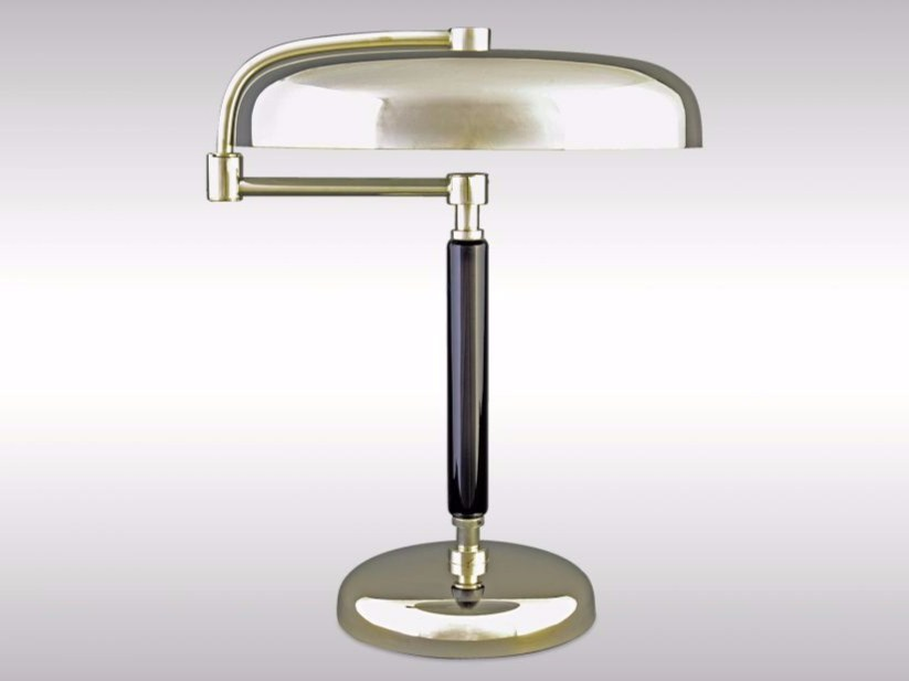 Swivel adjustable brass table lamp DESNY by Woka Lamps Vienna