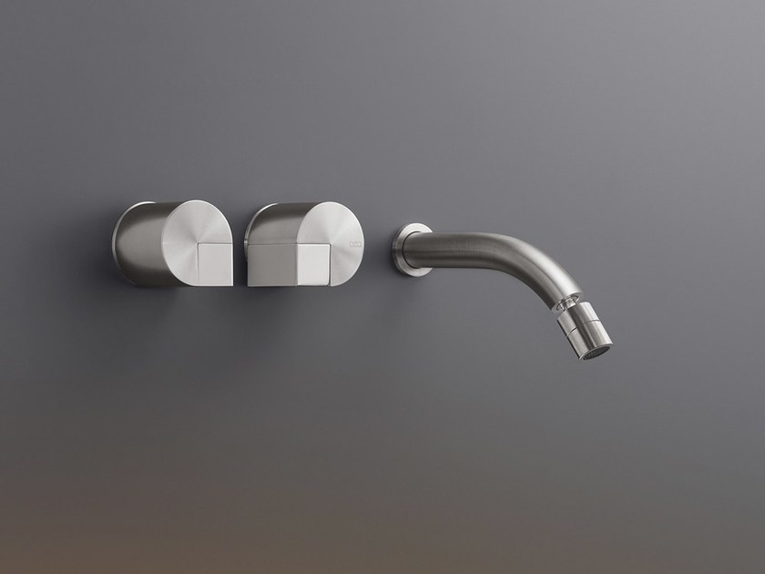 Wall mounted set of 2 individual taps with adjustable spout DET 23 by Ceadesign