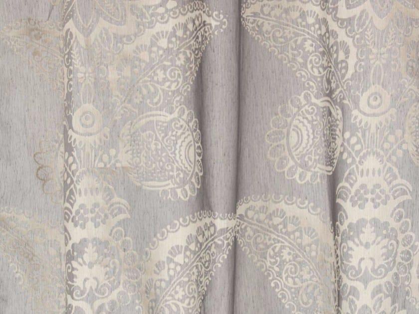 Tessuto in fibra sintetica con motivi floreali per tende DEVORE DAMASK by Gancedo