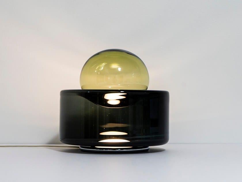 Blown glass table lamp DEW + DROP | Table lamp by Ocrùm