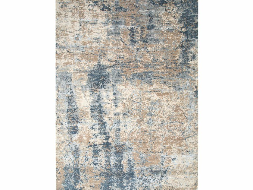Patterned rug DHARA ESK-407 Mink/Blue Mirage by Jaipur Rugs
