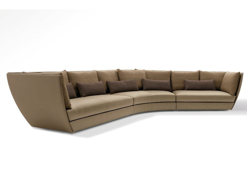 Sectional curved fabric sofa DHOW by GIORGETTI
