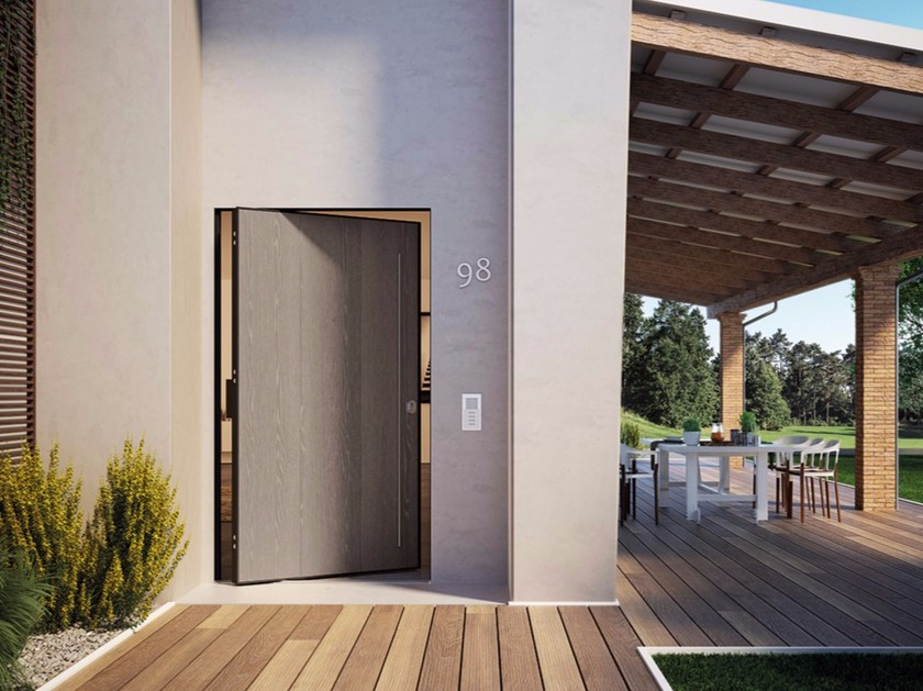DI.BIG Porta blindata a bilico Di.Big con rivestimento esterno in PVC