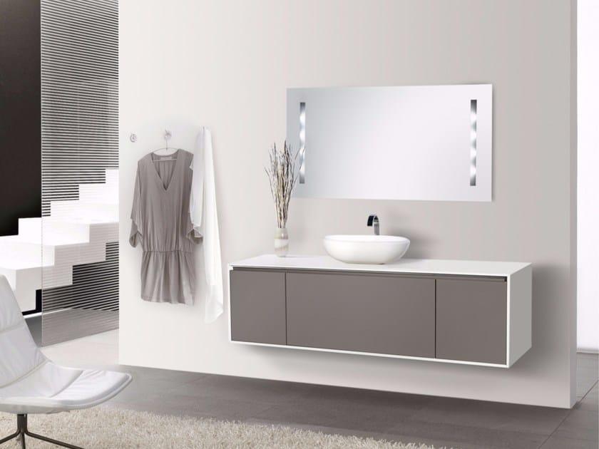 Single wall-mounted vanity unit with doors DIADEMA CM02DD by LA BUSSOLA