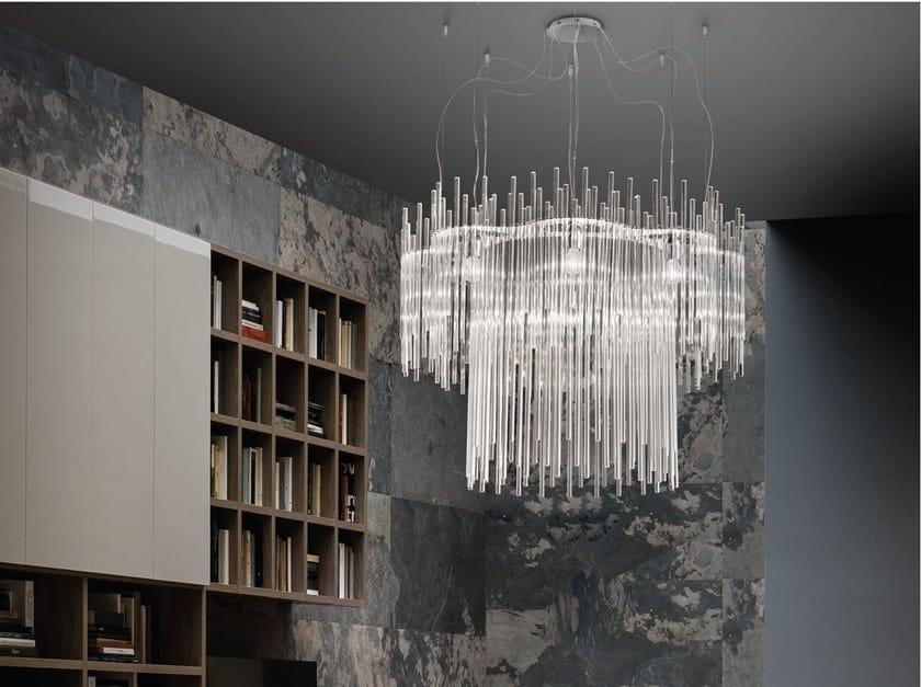 Araña de luces de vidrio DIADEMA SP C1 by Vetreria Vistosi