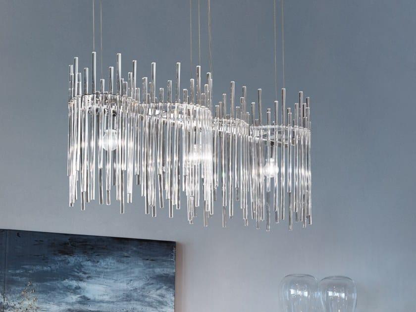 Glass chandelier DIADEMA SP K2 by Vetreria Vistosi