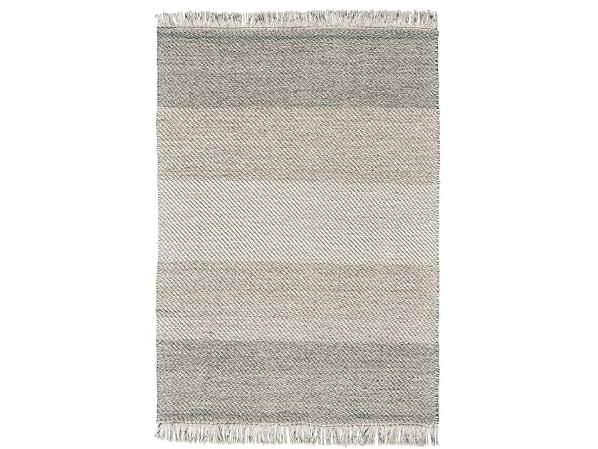 Rectangular striped wool rug DIAGO by Toulemonde Bochart