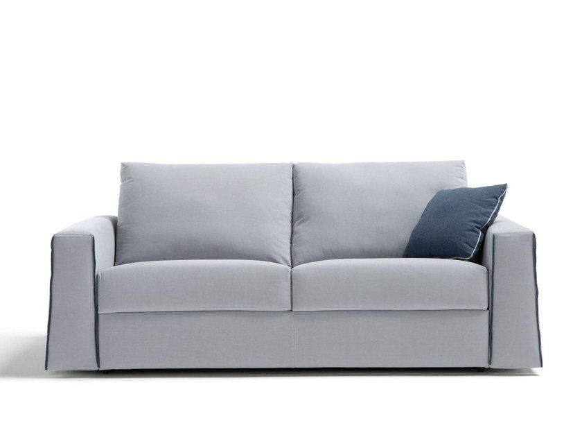 Fabric sofa bed with removable cover DIAGONAL by Dienne Salotti