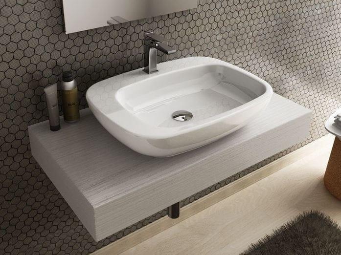 Countertop rectangular washbasin DIAL | Ceramic washbasin by Hidra Ceramica