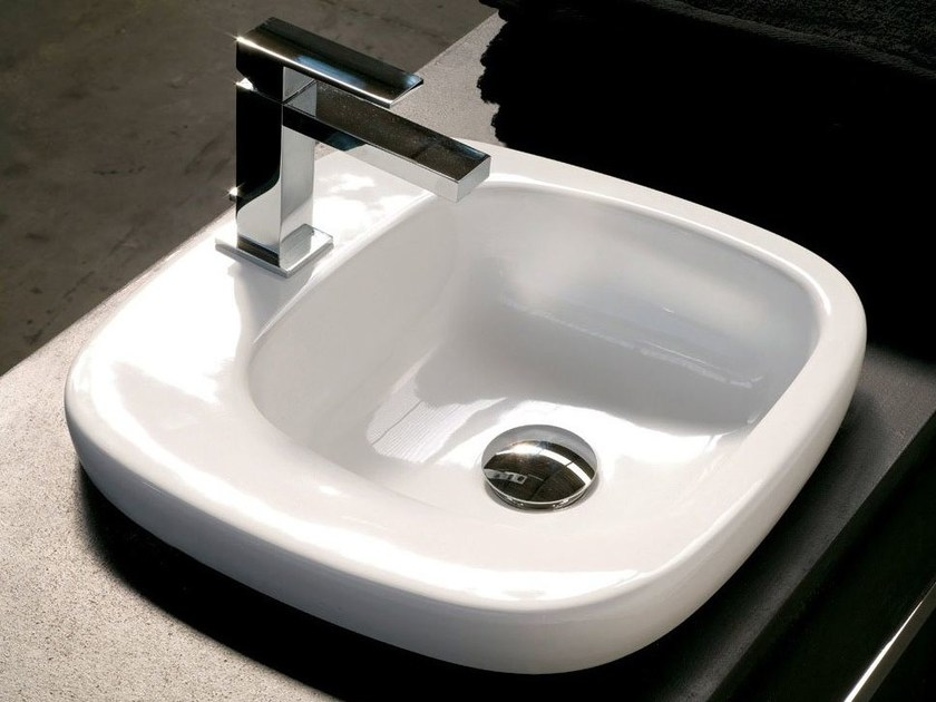 Inset ceramic washbasin DIAL   Inset washbasin by Hidra Ceramica