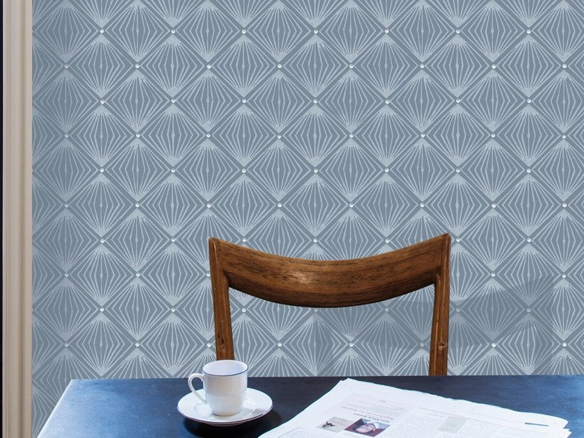 Check non-woven paper wallpaper DIAMANT by Isidore Leroy