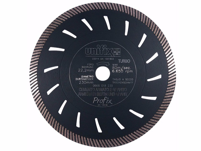 Diamond-coated Cutting Disc DIAMANT TURBO HEAVY DUTY by Unifix SWG