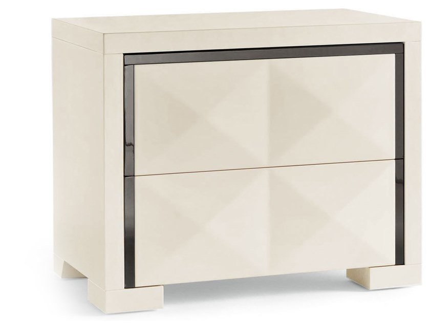 Rectangular wooden bedside table DIAMANTE | Bedside table by Cantori