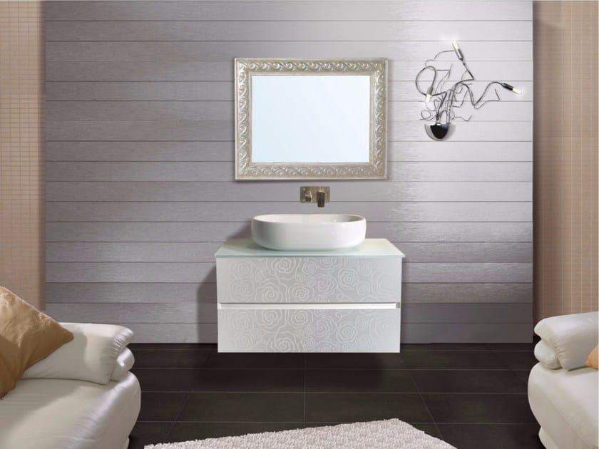 Mobile lavabo sospeso con cassetti con specchio DIAMANTE CM03DI - LA ...