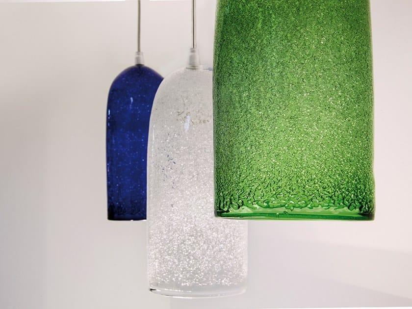 LED blown glass pendant lamp DIAMANTE by ENGI