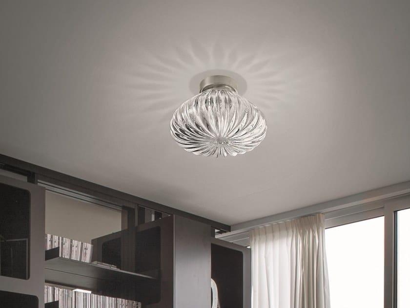 Plafoniere Design : Plafoniera in vetro diamante pl by vetreria vistosi design barbara