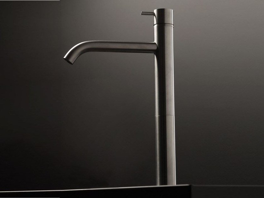 Single handle stainless steel washbasin mixer DIAMETRO35 INOX | Single handle washbasin mixer by RITMONIO