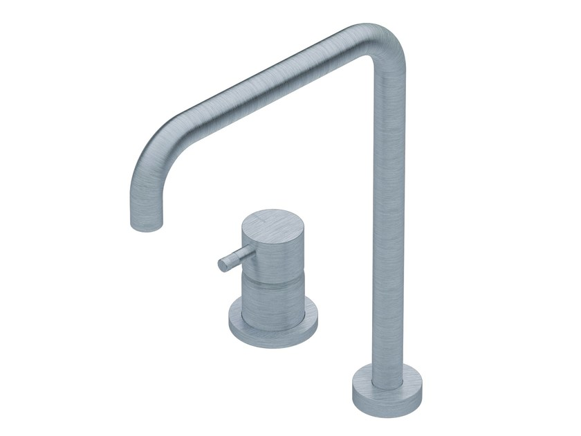 DIAMETRO35 INOX | Kitchen mixer tap with swivel spout By RITMONIO ...