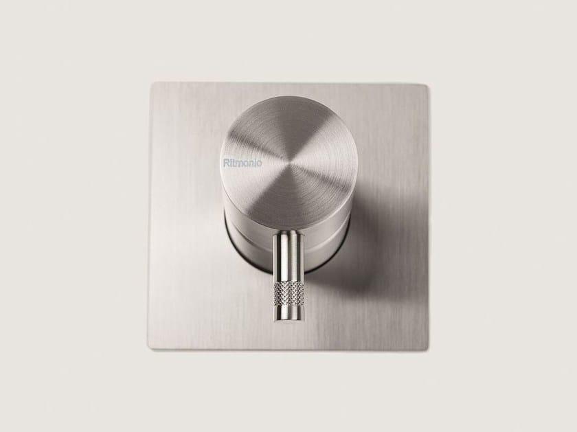 Single handle stainless steel shower mixer DIAMETRO35 INOX | Shower mixer by RITMONIO