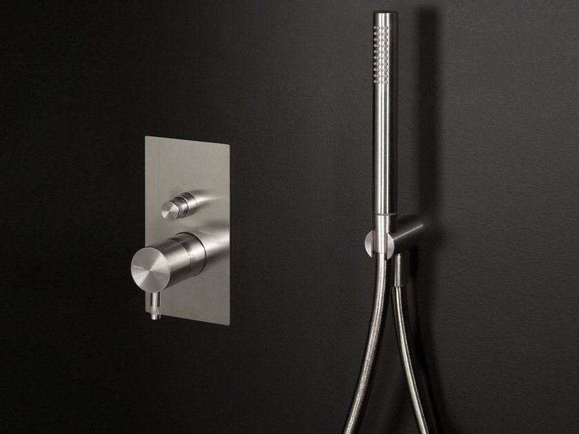 Stainless steel shower mixer with diverter DIAMETRO35 INOX   Shower mixer with diverter by RITMONIO