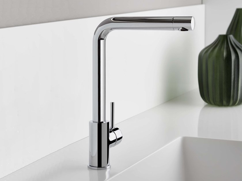 Countertop single handle kitchen mixer tap with swivel spout DIAMETRO35 CUCINA | Kitchen mixer tap with swivel spout by RITMONIO