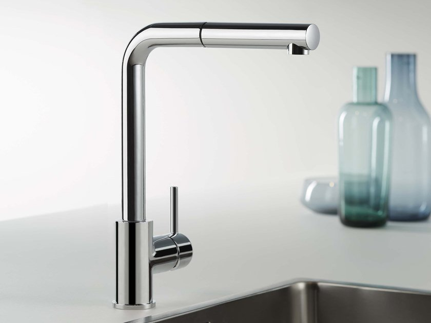DIAMETRO35 CUCINA | Kitchen mixer tap with pull out spray By ...