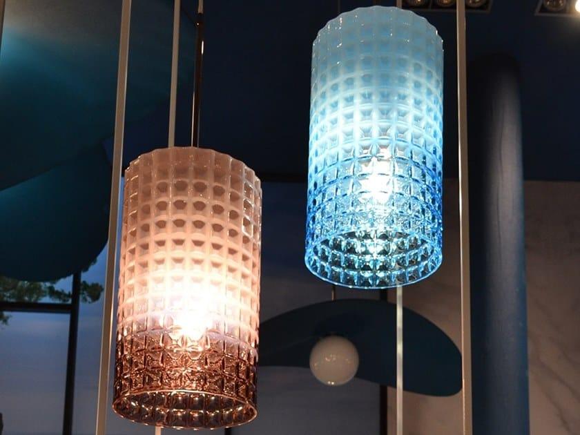 Glass pendant lamp DIAMOND by Adriani e Rossi edizioni
