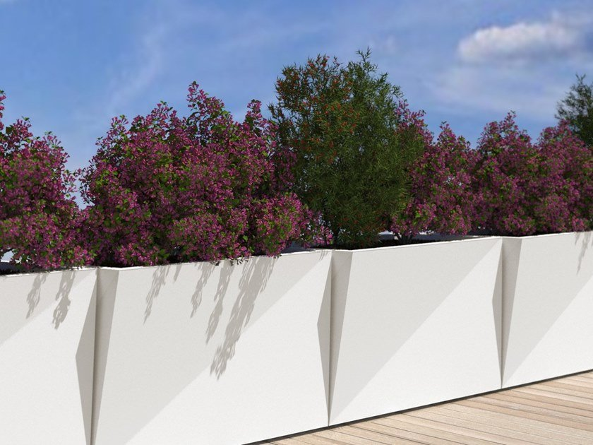 Stainless steel planter DIAMOND by BLOSS