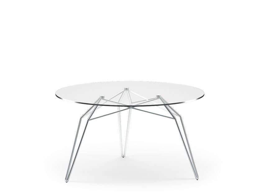 Tavolino da caffè rotondo in vetro DIAMOND   Tavolino da caffè by KUBIKOFF