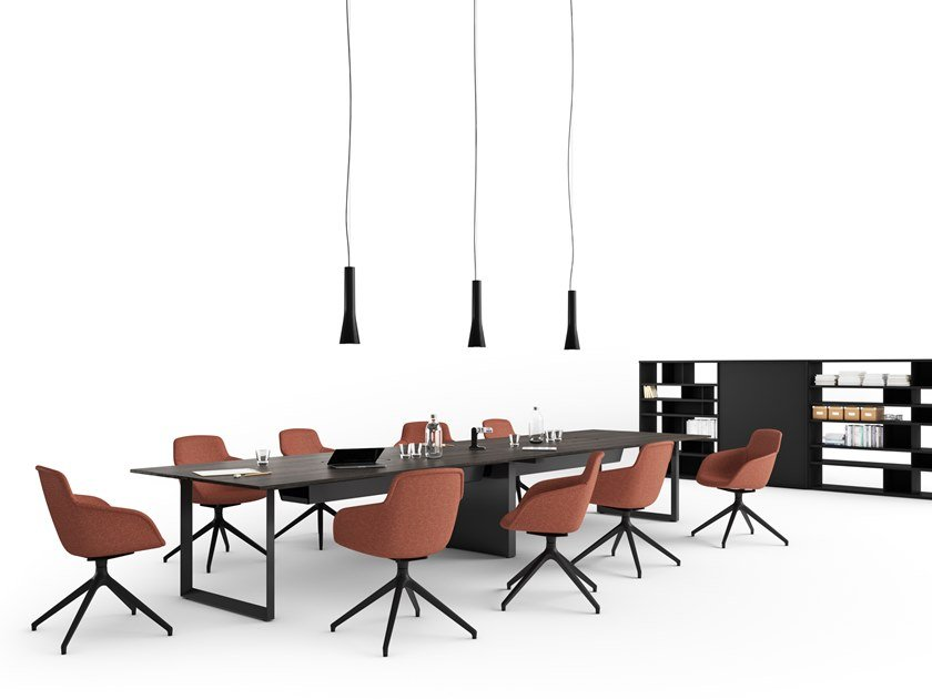 Rectangular meeting table DIAMOND EVO MEETING by Sinetica
