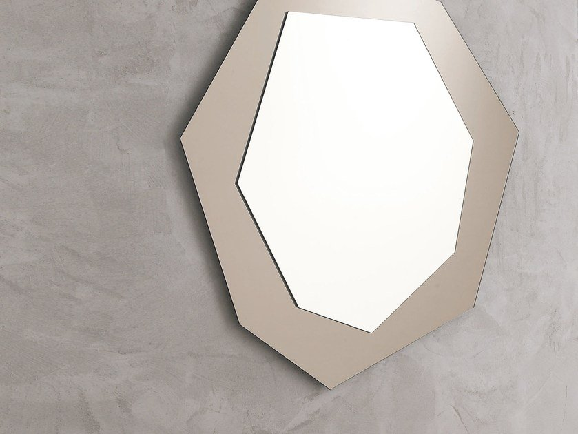Wall-mounted mirror with integrated lighting DIAMOND by IDEAS Group