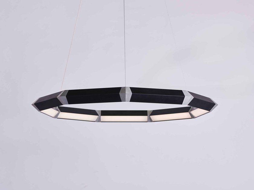 LED direct light metal pendant lamp DIAMOND LUXENNEA M-SERIES by Karice