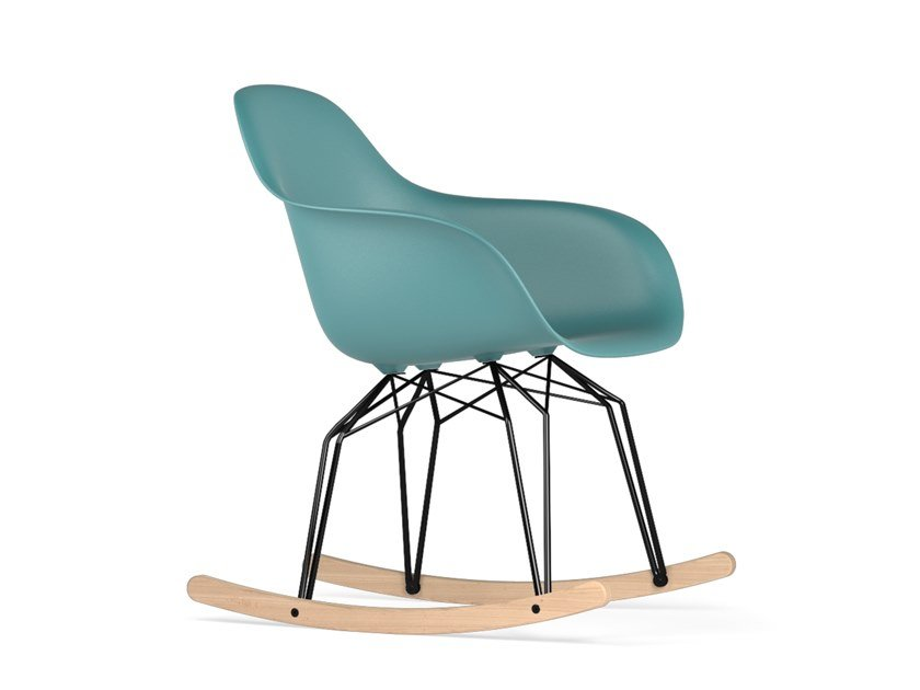 Rocking polypropylene chair with armrests DIAMOND ROCKING V9 | Chair with armrests by KUBIKOFF