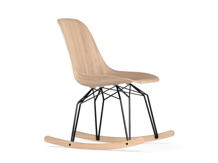 Rocking wooden chair DIAMOND ROCKING W9 by KUBIKOFF