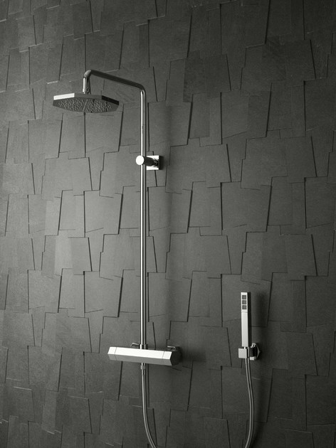 Shower tap with hand shower with overhead shower DIAMOND | Shower tap with overhead shower by Signorini