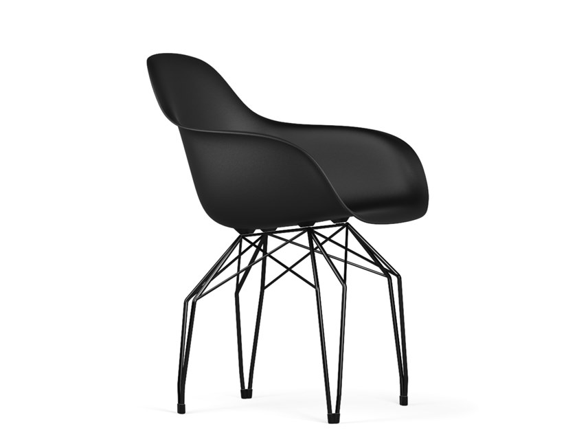 Polypropylene chair with armrests DIAMOND V9 | Chair with armrests by KUBIKOFF