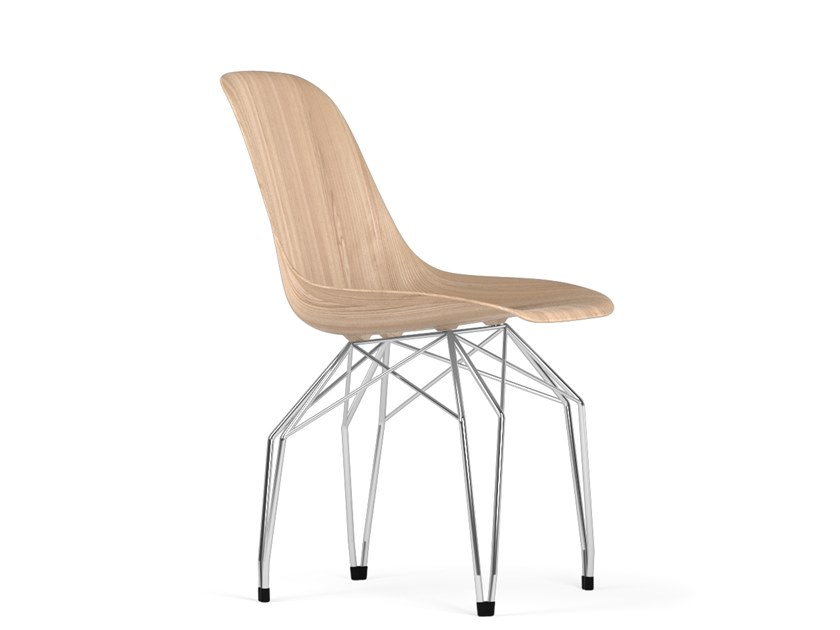 Wooden chair DIAMOND W9 by KUBIKOFF