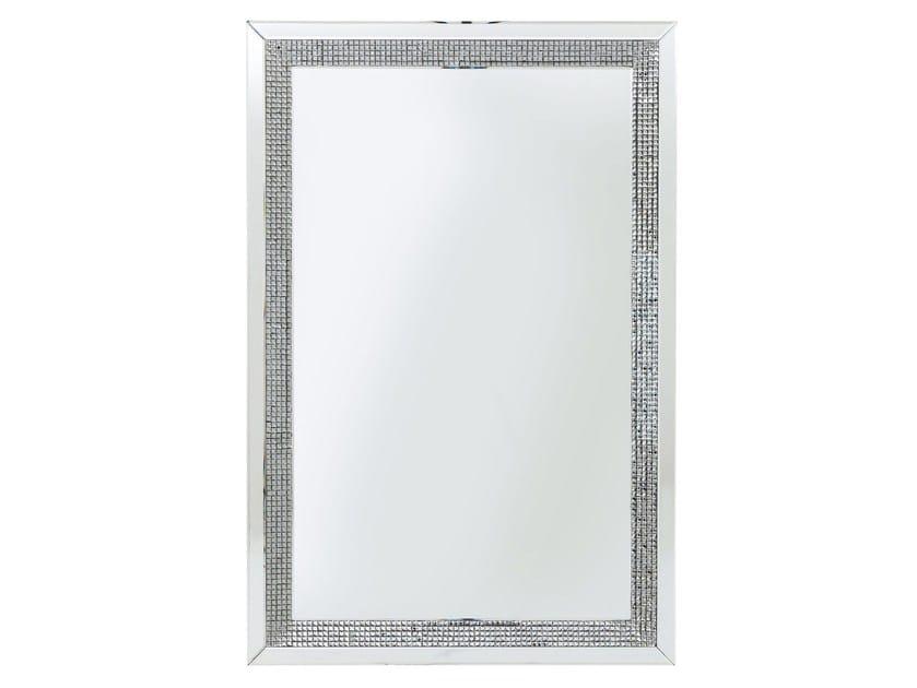 Rectangular wall-mounted framed mirror DIAMONDS by KARE-DESIGN