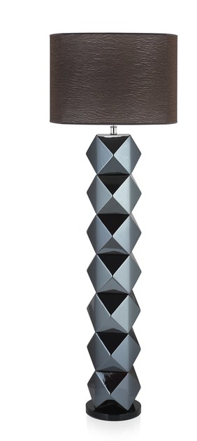 Contemporary style wooden floor lamp DIAMS FL by ENVY