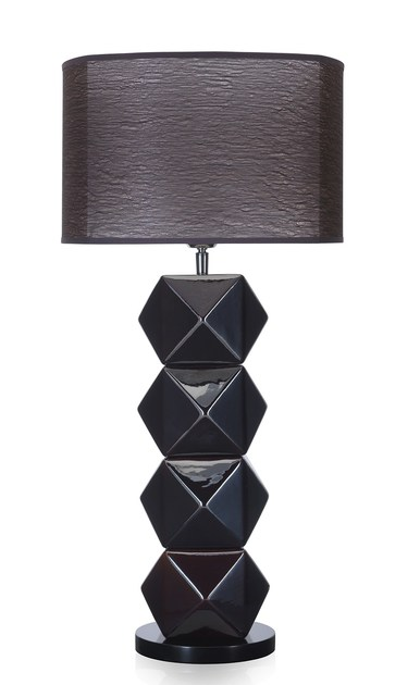 Contemporary style wooden table lamp DIAMS TL by ENVY